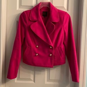 The Limited Fuchsia pea coat